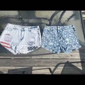 Patriotic High waisted Shorts